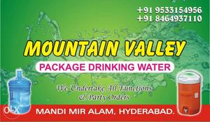 Mountain Valley Package Drinking Water