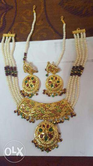 Pure Silver Set With Reall Moti And Many More