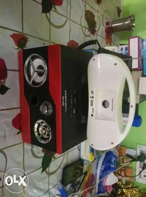 Red And Black 2 Way Speaker