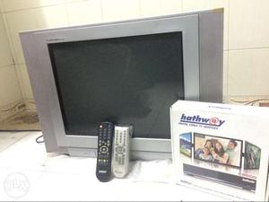 Trow away price LG flatron TV with hathway set for sale or