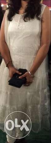 Women's White Chiffon Sleeveless net Dress light weight