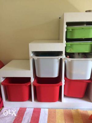 Colourful Toy Storage with 5 Big Basket + 2 Small