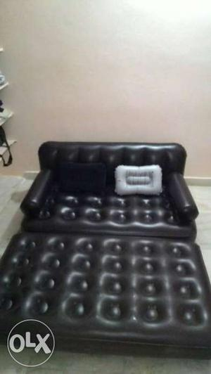 Black Inflatable 2-in-1 Sofa Bed