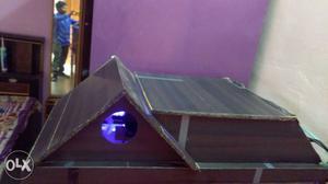 My blak wood aquarium home 66 liter water
