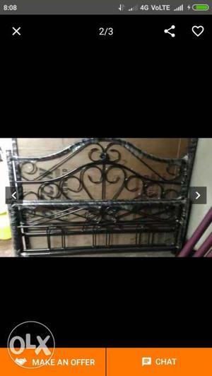 Queen size metal bed, brigade millennium.