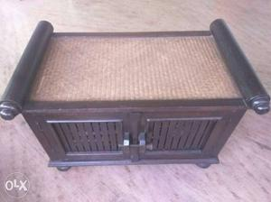 Shoe Rack with cane seating-UNUSED