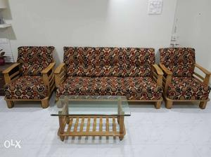 Sofa set with Center Table for sale, Good