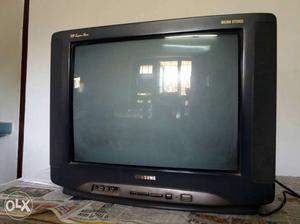 Black Samsung Crt Tv