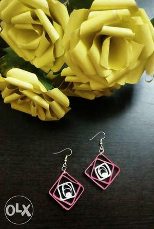 Paper quilled earrings... water proof...