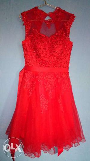 2 Western dresses at a good price: Red & Peach colour