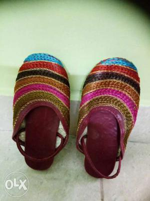 Combo of 3 party/ethnic wear sandals for 1-2 yrs