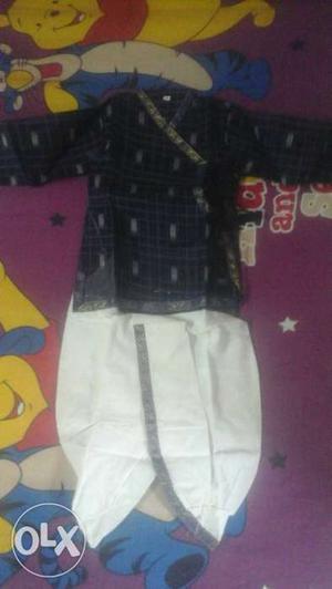 Cute cotton dhoti kurta for 1 year old boys brand new