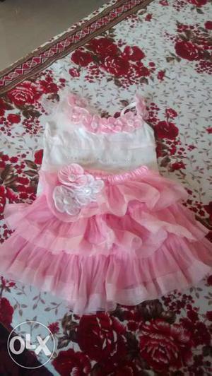 Pink skirt n top