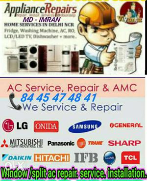 Ac Service, Repair & geyser washing machine fridge