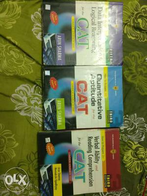 CAT Preparation books - arun sharma-all 3 books