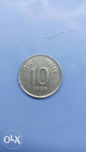 It is a 10 paise  coin of india