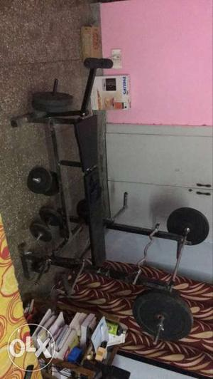 Protoner 50 Kg Home Gym with 6 in 1 Bench