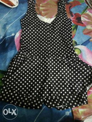 Swimming dress for girls with attached shorts in