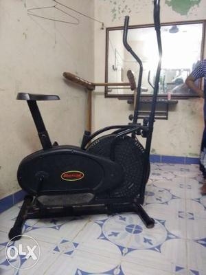 Gym cycle black colour with good condition