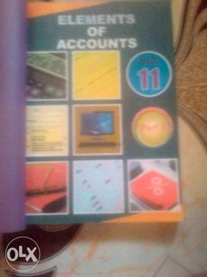 This book is 11th commerce, Elements of Accounts