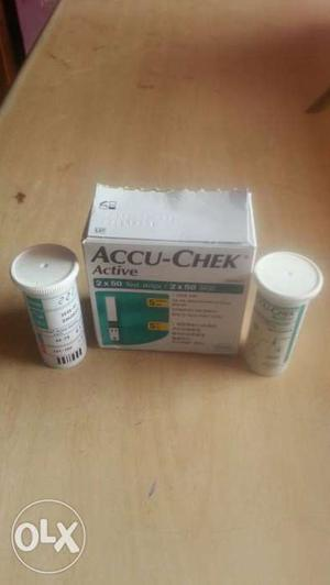 Accu check 10 test strips and machine will cost extra