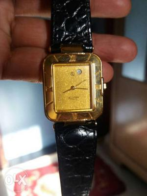 Accurate swiss made Gold electroplated single