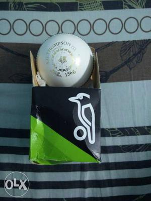 Bcci logoed kookabura(turf) ball used in international