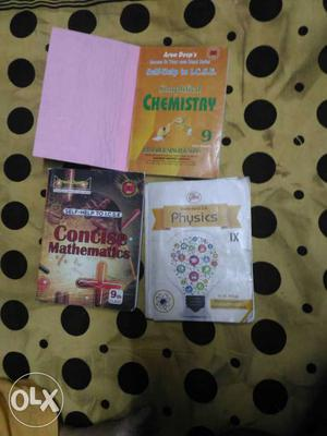 Very helpful 9th std guides maths,physics and