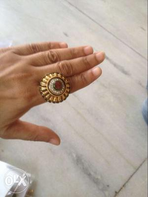 Gold And Silver Round Ring