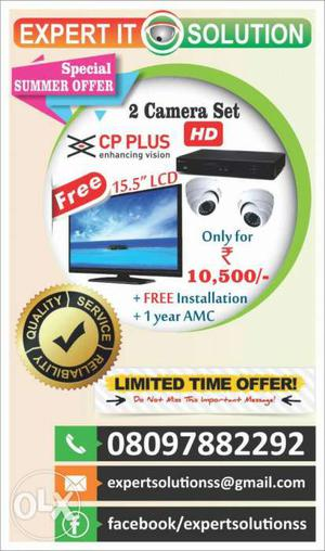 CCTV Total Set HD at lowest.with 3 years