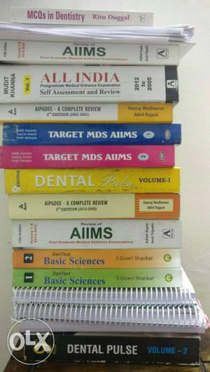 Dental and medical books for mds preparation