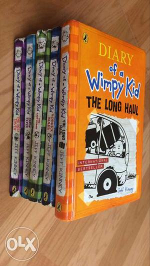 Five Diary Of A Wimpy Kid Book Series