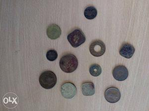 Old Indian coins archive for sale. 1anna of