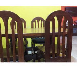 Teak wood Dinning table with 4 chairs(Original Burma Teak)