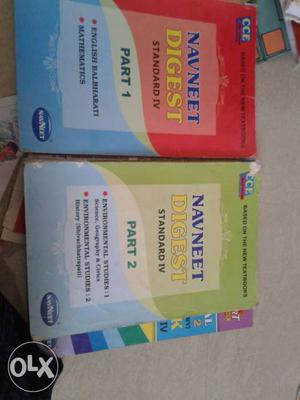 Two Navneet Digest Standard IV Part 1 And 2 Books
