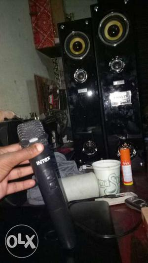 Black Intex Microphone