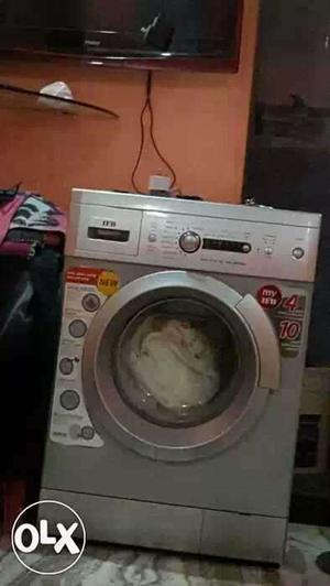 Gray Front Load Washing Machine