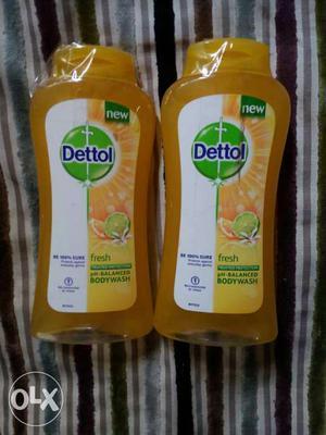 Two Dettol Body Wash Plastic Bottle