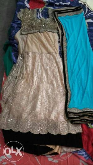A wrapper lehenga with pure Saturn fabric and