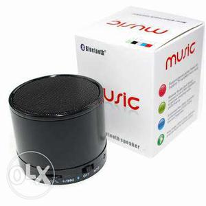 Black Music Portable Speaker With Box