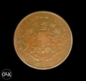 East India Company Coin Half Anna
