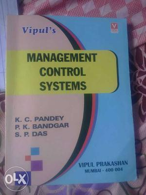 Management Control Systems K.C Pandey P K Bandgar And S P