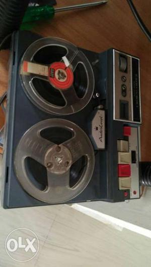 Vintage solid slate tape spool recorder good working