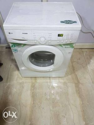 White LG Front Load Clothes Washing Machine with Delivery