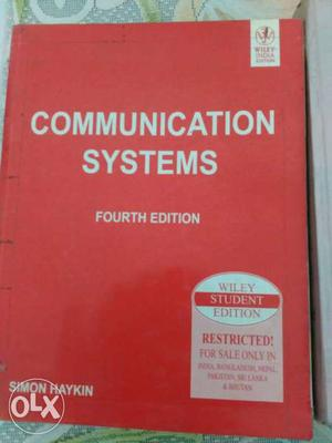 4th Edition Communication Systems Book