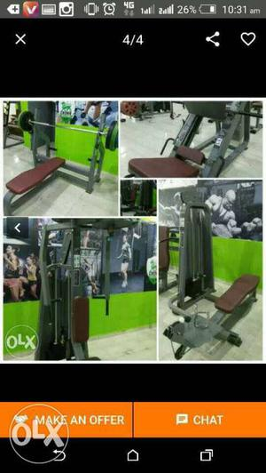 All kind of gym equipment and gym station