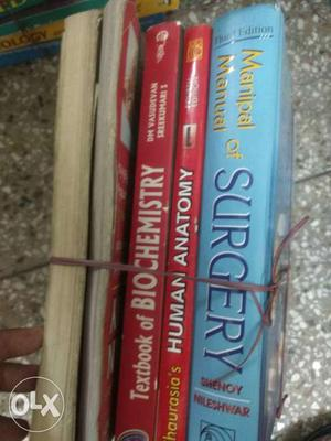 Medical books and also pg preparation books...