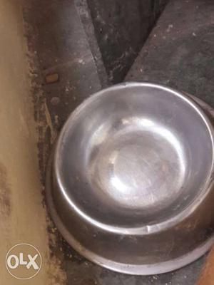Stainless Steel Round Pet Bowl