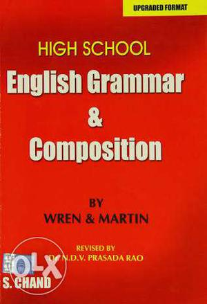 High School English Grammar And Composition By Wren And
