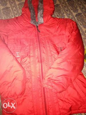 7 to 11 year size girl jacket red colour its feel